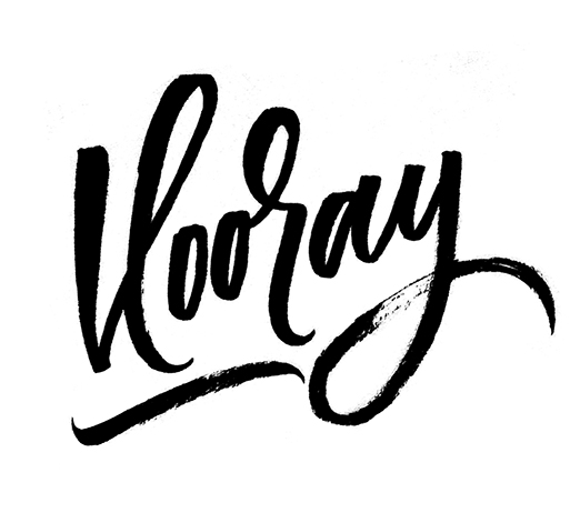 Hooray | 100 Days of Lettering |  By Type and Graphics Lab |  typeandgraphicslab.com