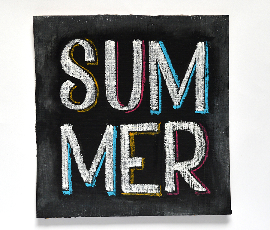 Summer | 100 Days of Lettering |  By Type and Graphics Lab |  typeandgraphicslab.com