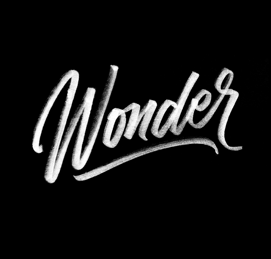 Wonder | 100 Days of Lettering |  By Type and Graphics Lab |  typeandgraphicslab.com