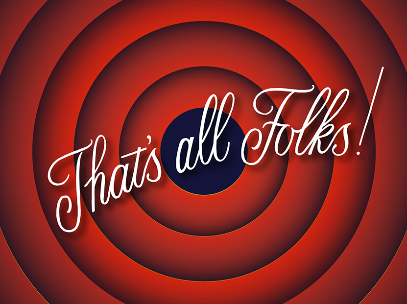 That's All, Folks! | 100 Days of Lettering |  By Type and Graphics Lab |  typeandgraphicslab.com