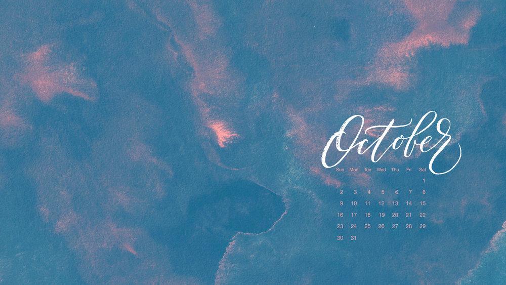 Free Desktop Calendar for October 2016 | typeandgraphicslab.com