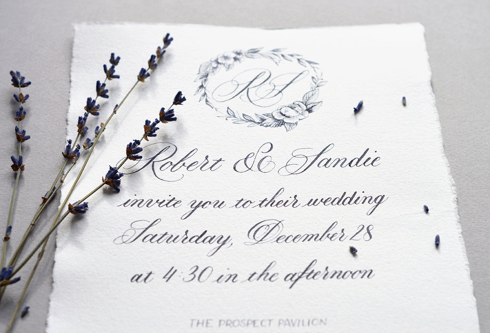 Wedding Collection: Paris in the snow by Type and Graphics Lab | typeandgraphicslab.com