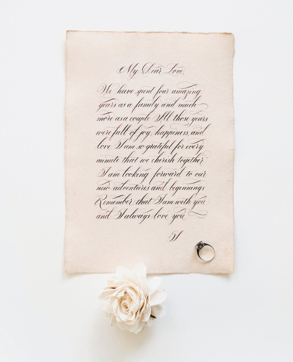Anniversary Love Letter | Calligraphy by Type and Graphics Lab | typeandgraphicslab.com