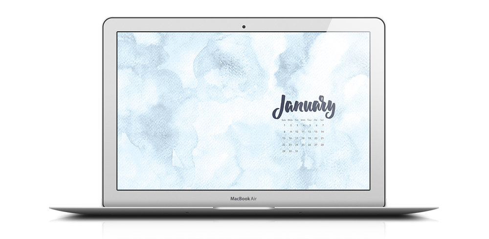 Download a free desktop calendar for January 2017. For personal use only |©typeandgraphicslab.com