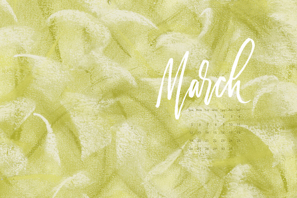 Download a free calendar for March 2017 | © typeandgraphicslab.com | For personal use only