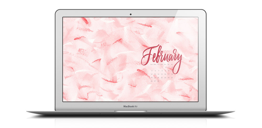 Download a free desktop calendar for February 2017 | © typeandgraphicslab.com | For personal use only