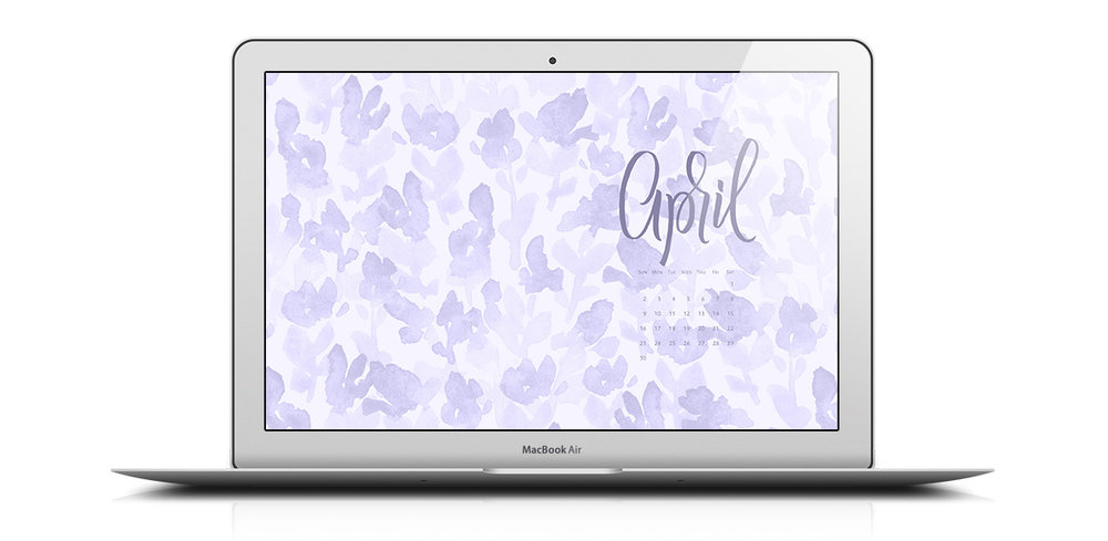 Download a free desktop calendar for April 2017 | © typeandgraphicslab.com | For personal use only
