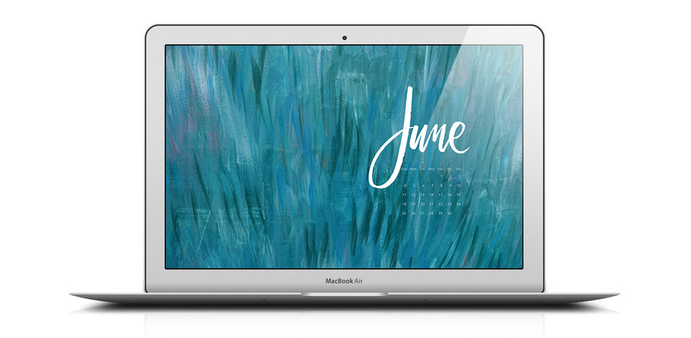 Download a free desktop calendar for June 2017 | © typeandgraphicslab.com | For personal use only