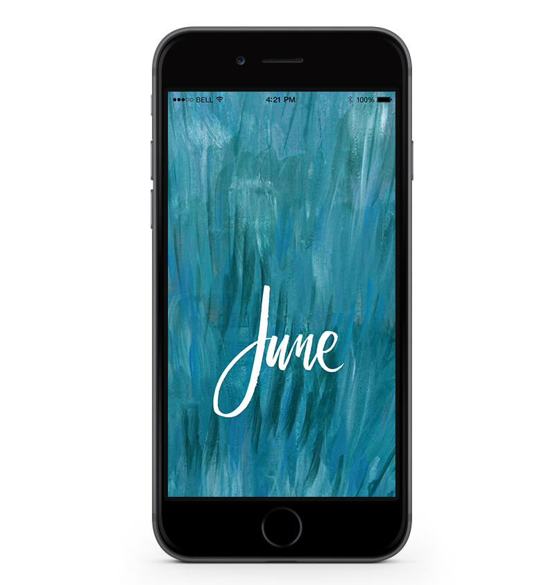 Download a free mobile calendar for June 2017 | © typeandgraphicslab.com | For personal use only