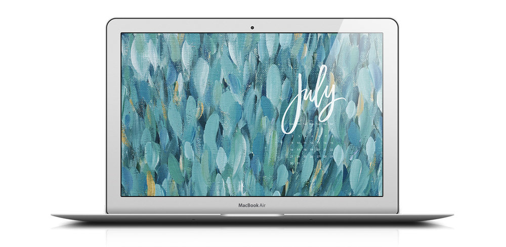 Download a free desktop calendar for July 2017 | © typeandgraphicslab.com | For personal use only