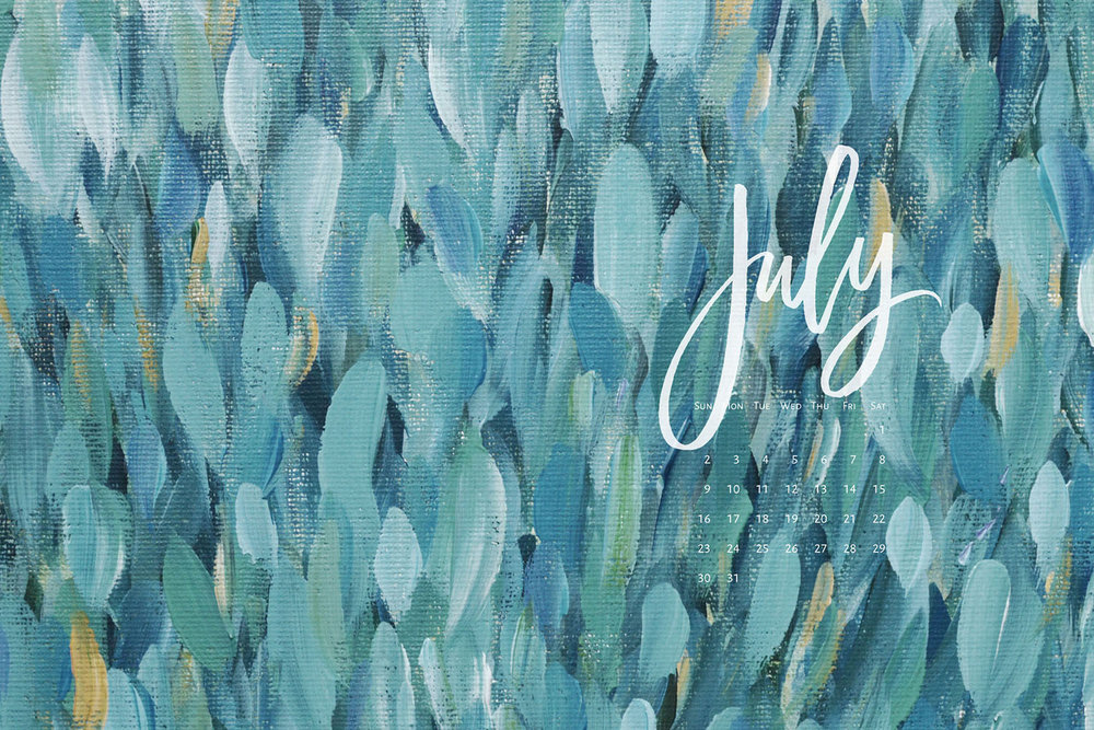 Download a free calendar for July 2017 | © typeandgraphicslab.com | For personal use only