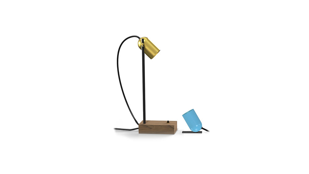James Plant - Polka Desk Lamp and Polka Mouse lamp.jpg