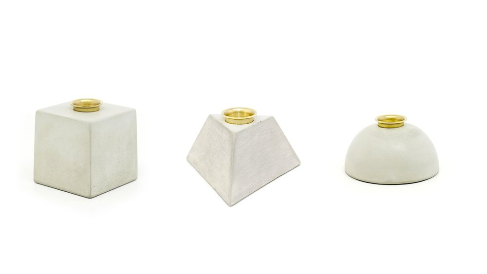James Plant - Geometric concrete candle holders 01.jpg