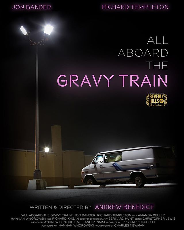 cash my short film ALL ABOARD THE GRAVY TRAIN at the Beverly Hills Film Festival on Apr 6 screening at the Chinese Theater in Hollywood. linky in bio