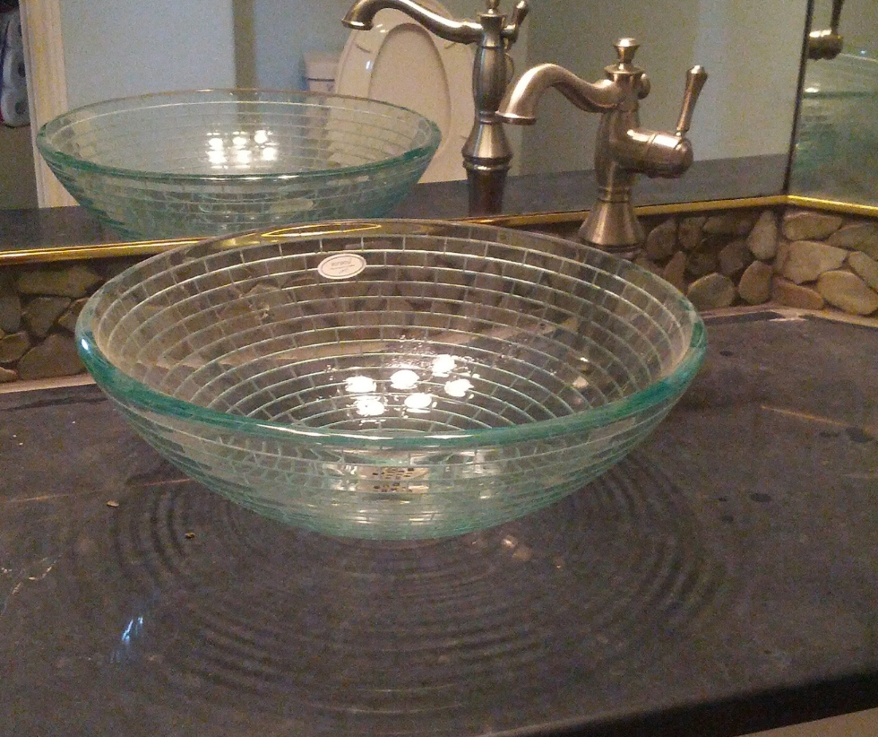 A beautiful vessel sink.