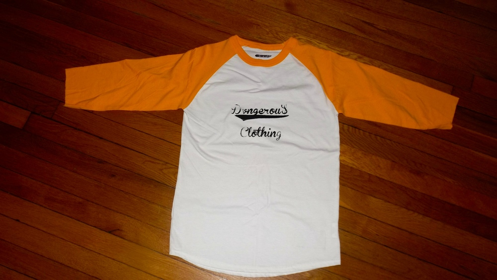 NEW DVNGEROU$ CLOTHING YELLOW & BLACK RAGLAN JERSEY