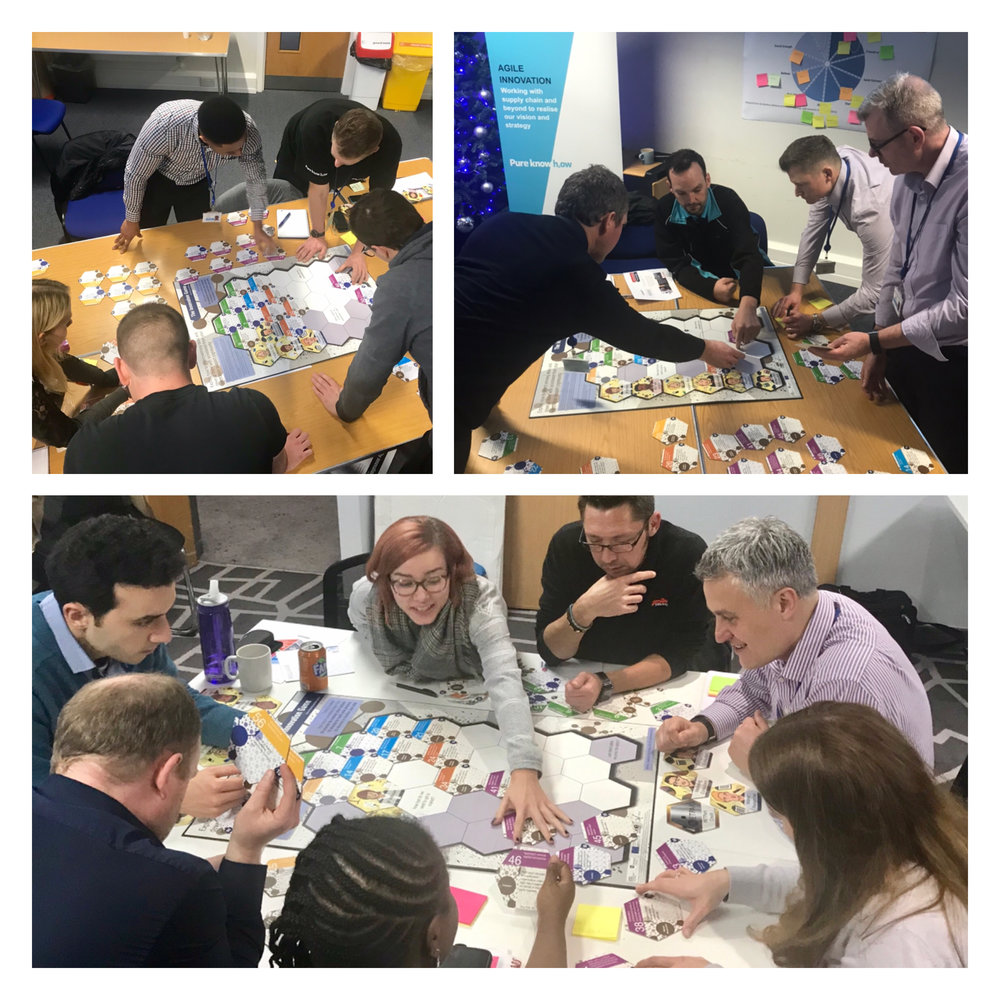 Participants explore scenario's in 'The innovation game', design by +ADD founder Paul Sutherland