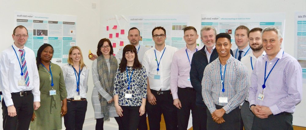 21 South East Water staff achieve  ILM accredited  innovation Champion certificate
