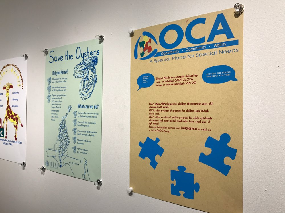 """Final posters from """"The Power of Print"""" Maymester 2017"""