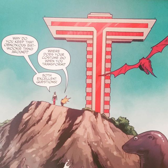 Teen Titans asking the important questions. #TeenTitansIssue6 #BenjaminPercy #KhoiPham