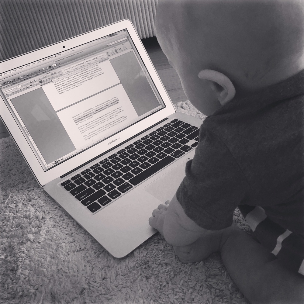 Our little man can already scroll...what's next?