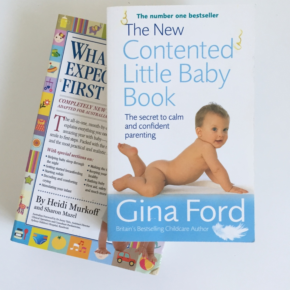 The only two books I've used. I was obsessed with Contented Baby, to my detriment!