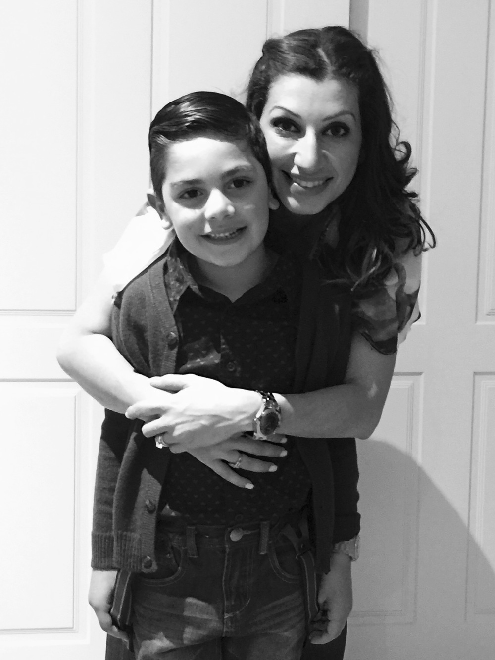 Diana and her son Gabe