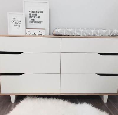 Dressers or cabinets make great change tables