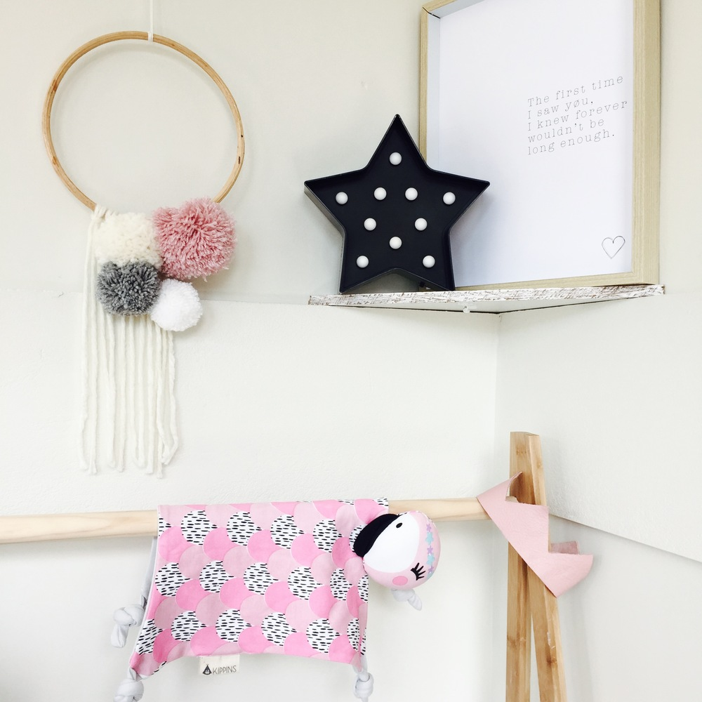 Coco Kippin by Kippins, Hubble and Duke crown, Captain and Co Pom Hoop, MeOhMy Forever print in Kmart frame