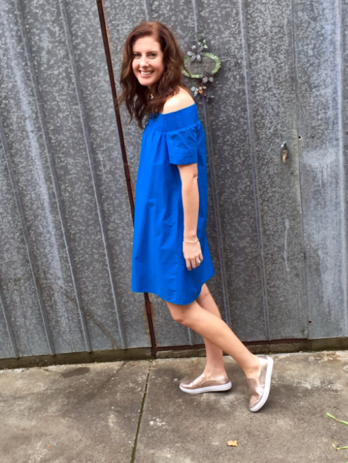 Dress and Shoes picked up in the sales recently. Dress: Piper (not available online) via Myer, Shoes: Rubi Shoes (similar linked). Whole outfit under $100