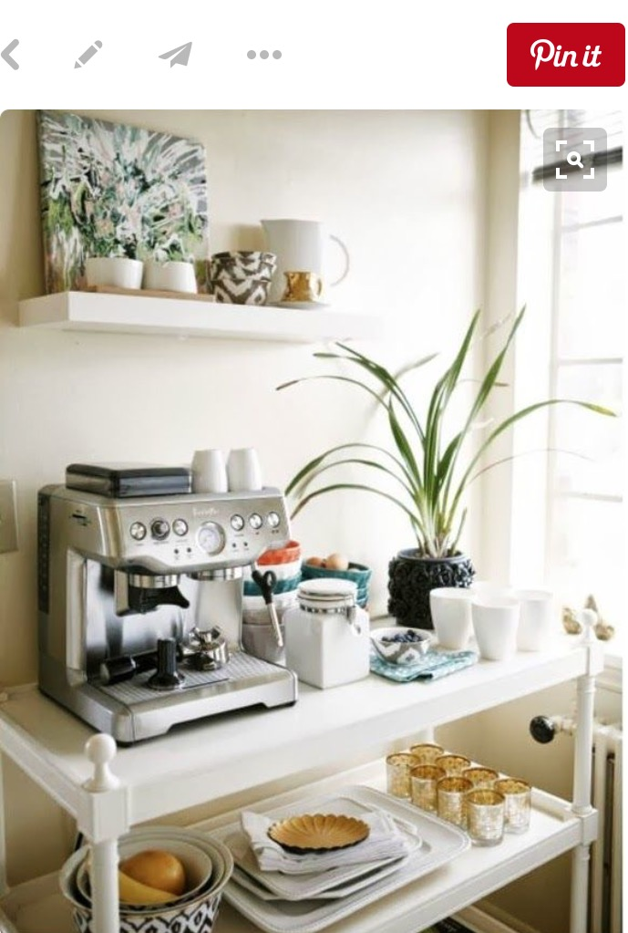 """""""Pinterest tells me you can repurpose change tables... I'm not convinced! If it comes with the coffee machine however, I'm in!"""""""