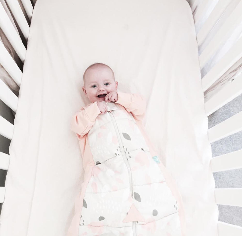 Aoife in her 3.5 TOG ergoPouch sleep suit