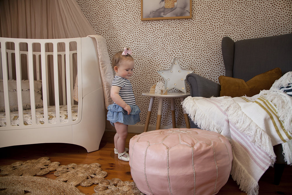 I love that this room will grow with Isabella. Tip: Imagine the room with a toddler bed/single bed, place these items within the room in your head and see if it will still work. Remember you need to make those investment pieces work for you in years to come.