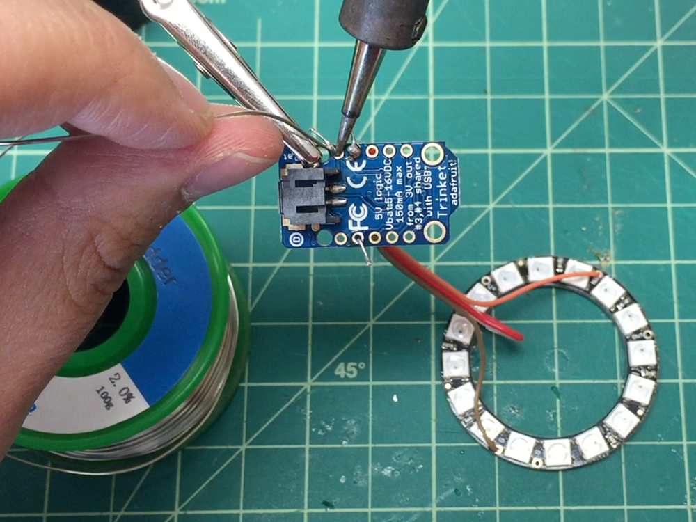 Continue soldering all three pins