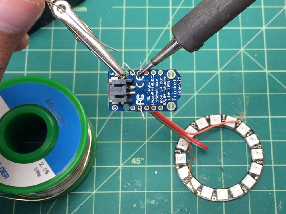 The solder should form a peaked dome and cover the entire conductive pad