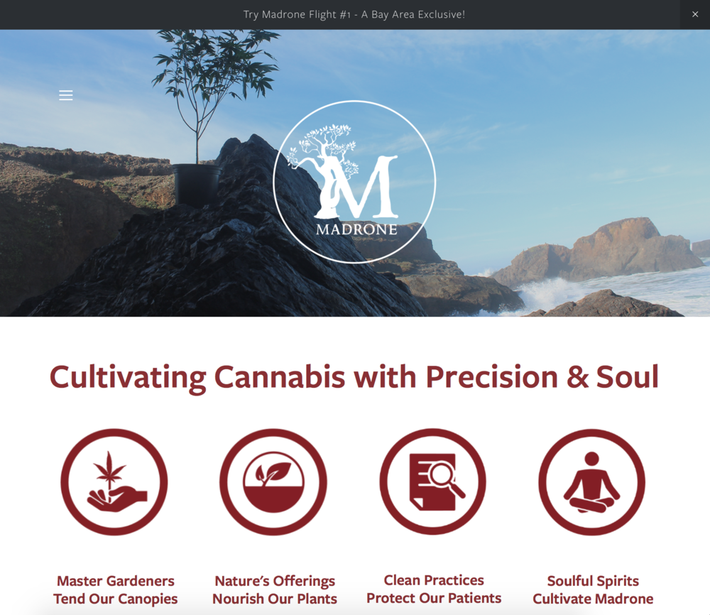 Madrone California - cannabis website design