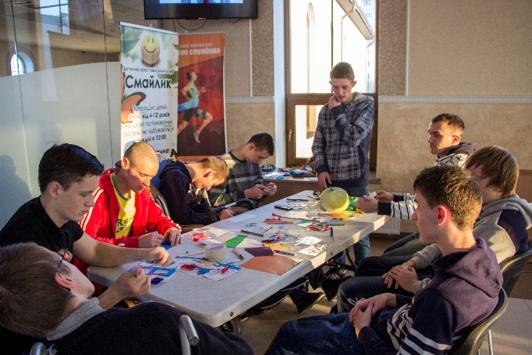Ukraine Boys Working on Craft.png