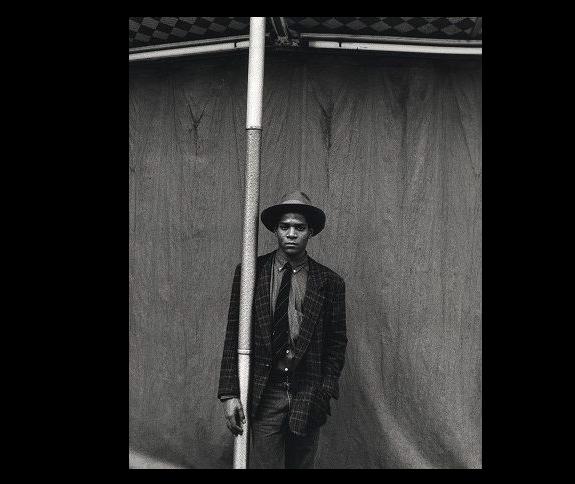 """""""Basquiat"""",  1985, silver gelatin print."""