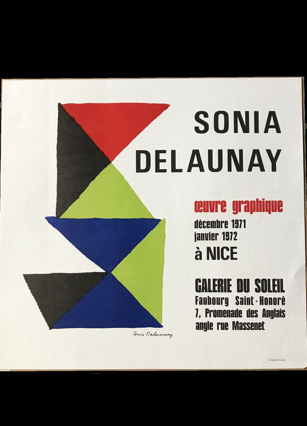 """Sonia Delaunay"",  1971, invitation"