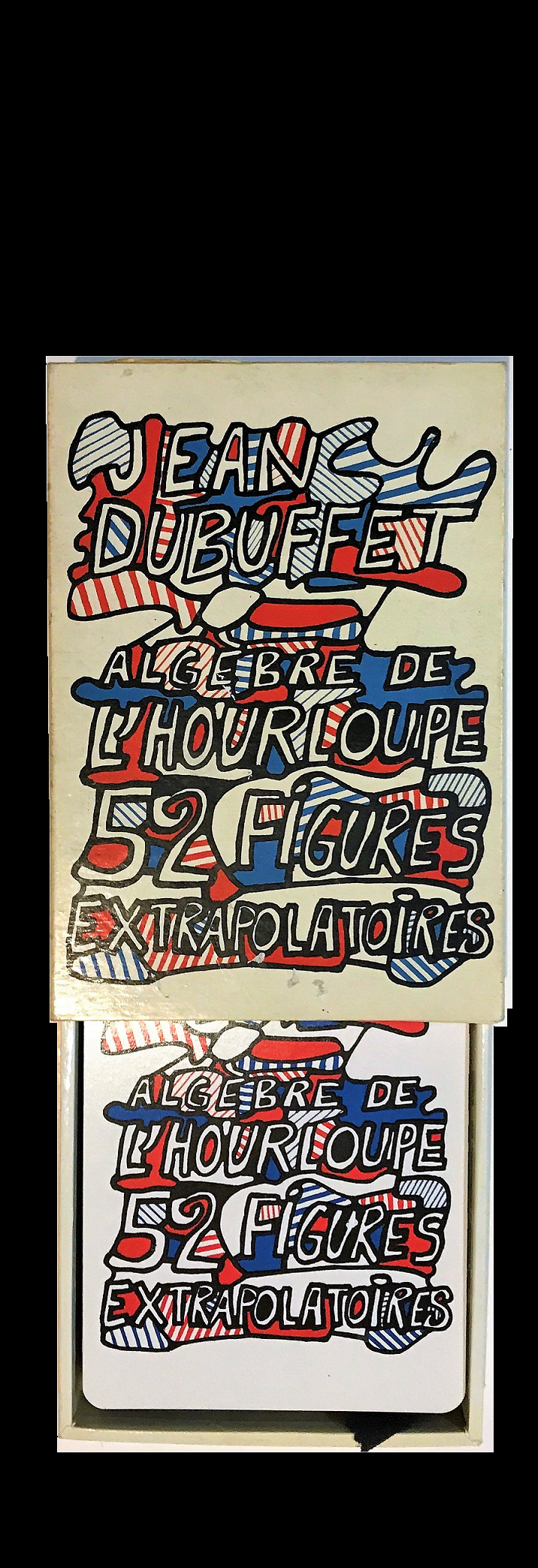 """Algebre de l'Hourloupe. 52 figures extrapolatoires"",, 1968,  52 colored large playing cards."