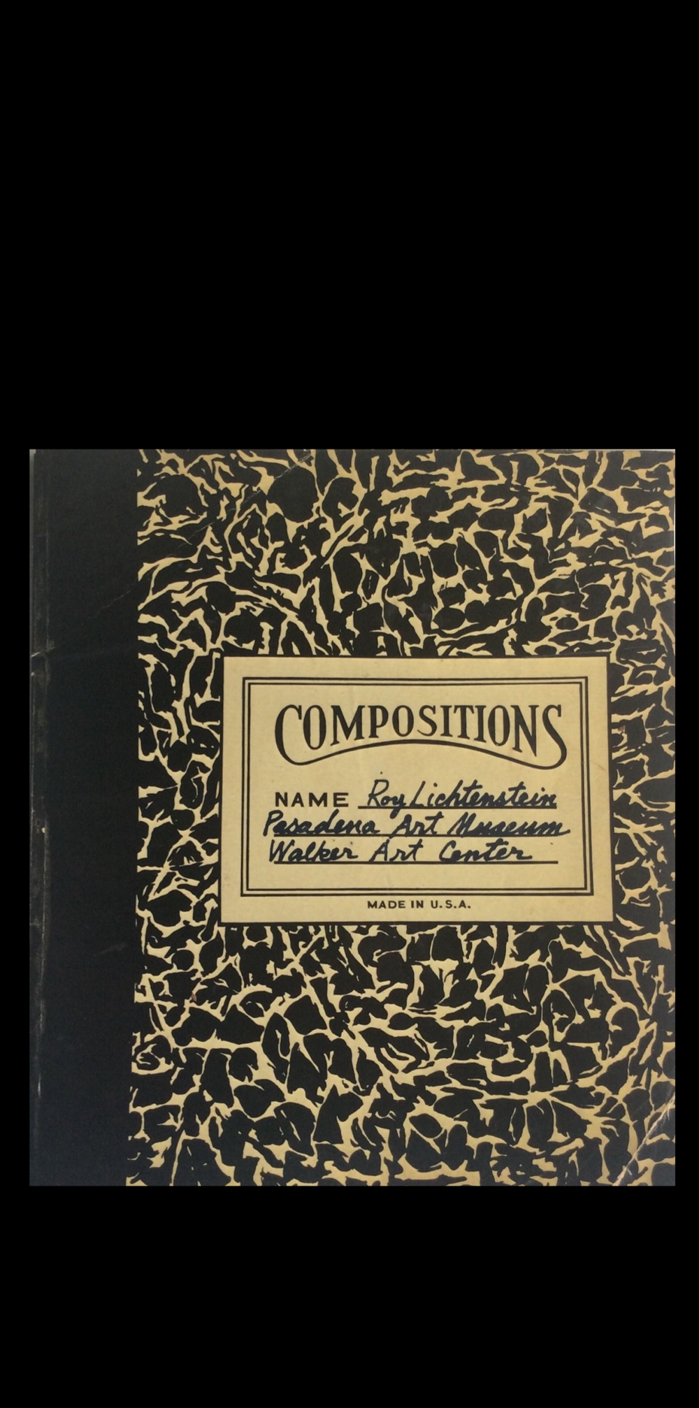 """Compositions"",  1967,  Exhibition Catalogue, Pasedena Art Museum."