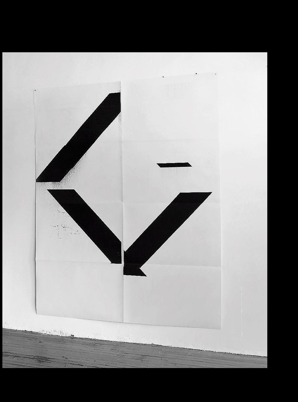 'X' Poster (Untitled, WG1208),  2017, Epson UltraChrome inkjet on linen paper,. 84 × 69 in (213.4 × 175.3 cm)