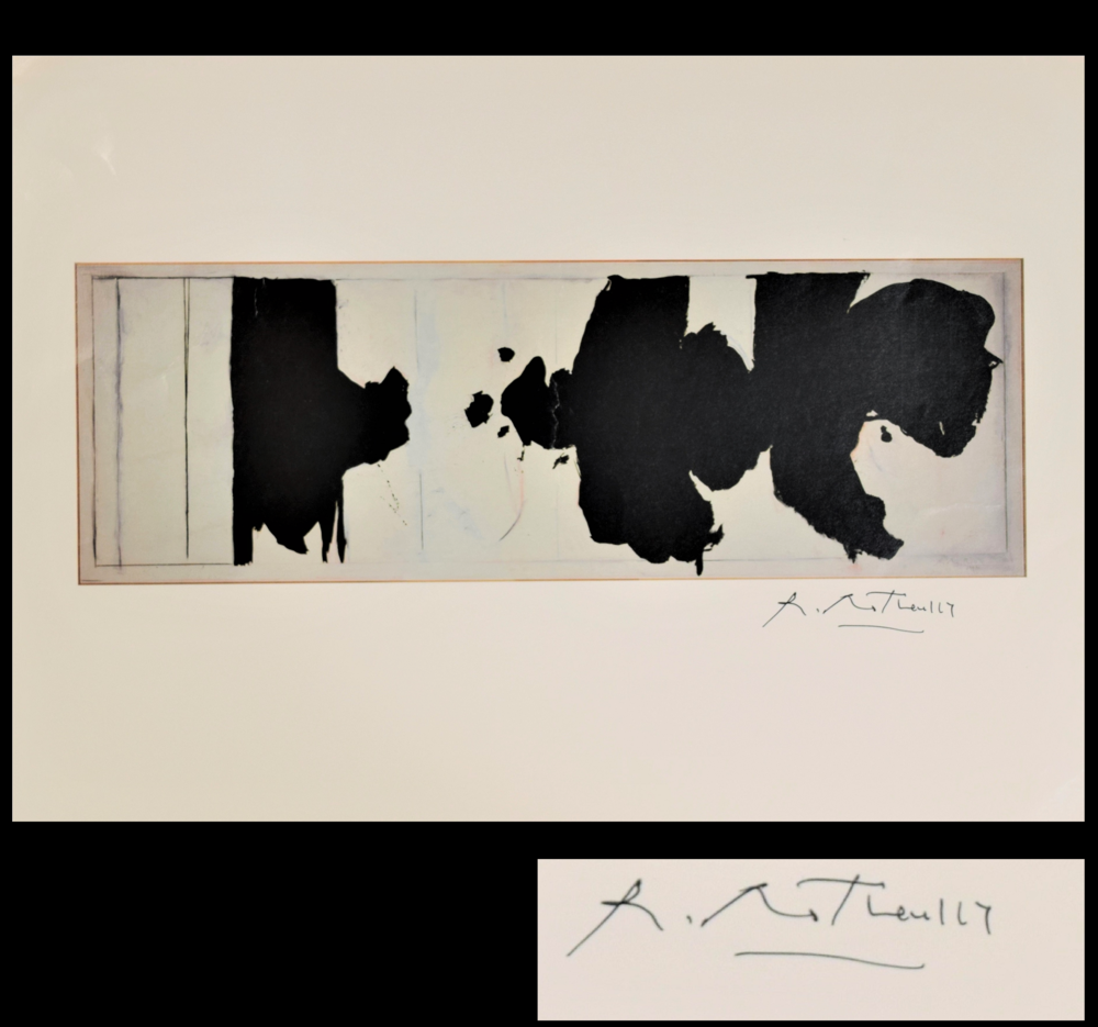 """Reconciliation Elegy"",, circa 1970's,  signed in ink- ""Robert Motherwell"", 11 x 14 in.."