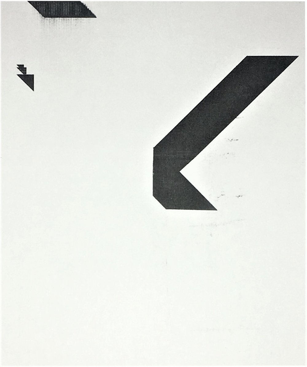 'X' Poster (Untitled, WG1207),  20176 Epson UltraChrome inkjet on linen paper,, 84 × 69 in (213.4 × 175.3 cm)