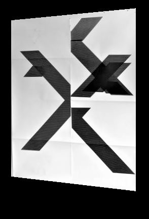'X' Poster (Untitled, WG1209),  2018, Epson UltraChrome inkjet on linen paper,. 84 × 69 in (213.4 × 175.3 cm)
