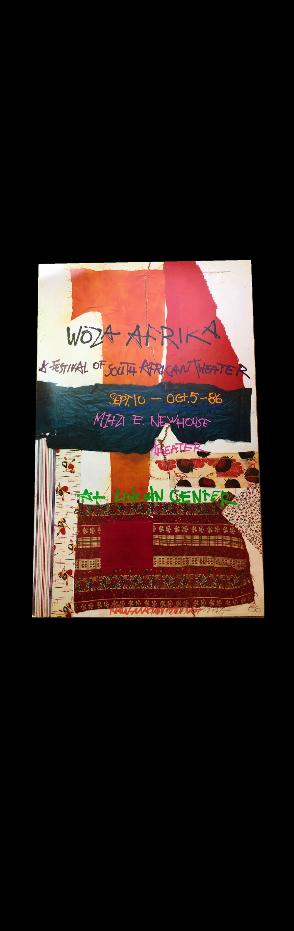"""WOZA Afrika"",  1988, signed poster, edition of 200."