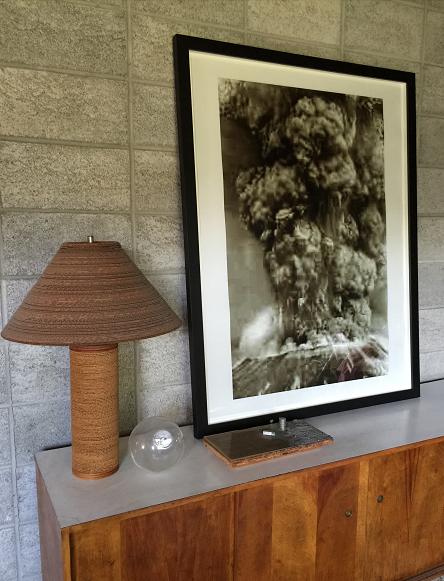 """J-PEGS"" (volcano),  2006, Chromogenic Color Print, Archival Frame."