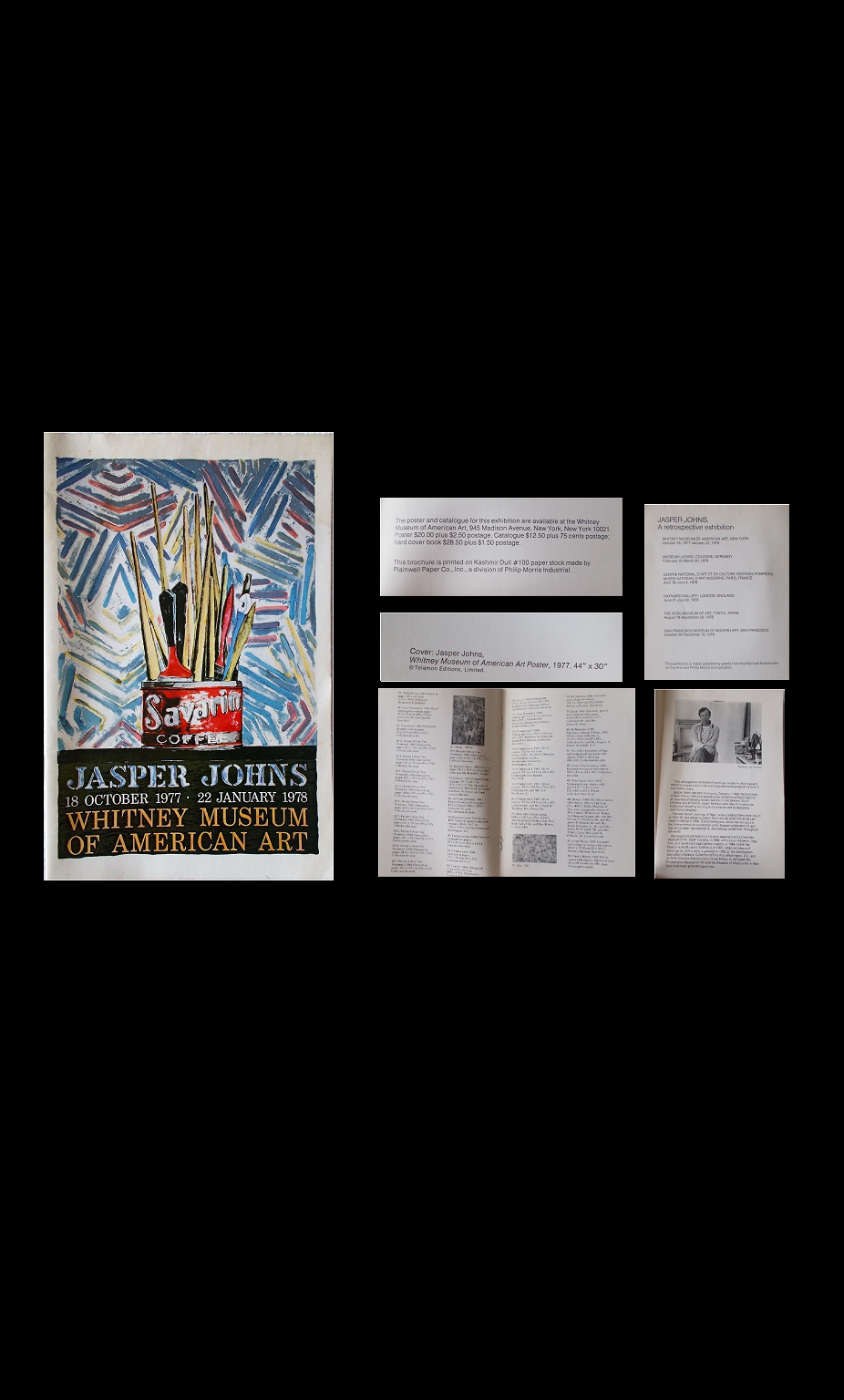 """JASPER JOHNS, Whitney Museum of American Art"" , 1977, Exhibition Catalogue."