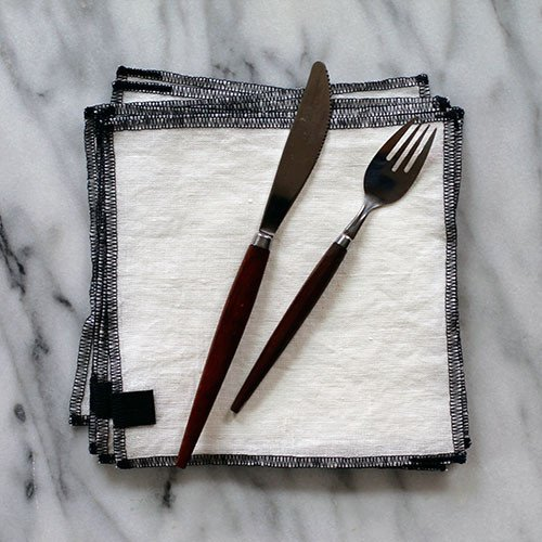 White + Navy Everyday Napkin by The Everyday Co. Photo courtesy  Small Batch Foods .