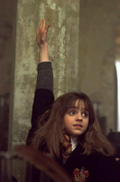 Crush your exams like Hermione Granger. Photo via Pinterest.